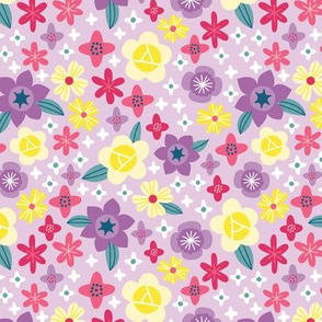Purple fun spring flowers
