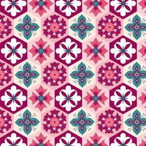 Boho Hexagon Floral