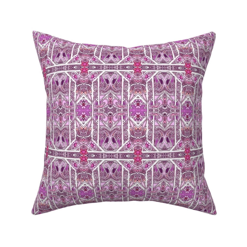 Catalan Throw Pillow featuring Curly Purple Girly Swirly by edsel2084