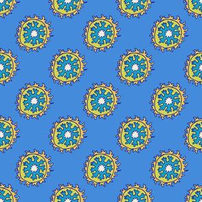 single suzani motif BLUE YELLOW-01
