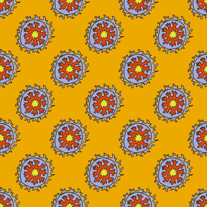 single suzani motif ORANGE GRAY-01