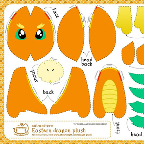 Cut & Sew Eastern Dragon Plush Orange