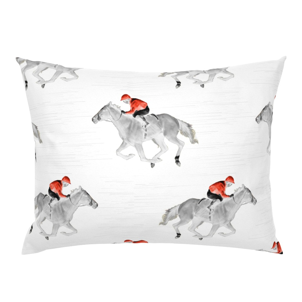 Campine Pillow Sham featuring The Jockey by vintage_style