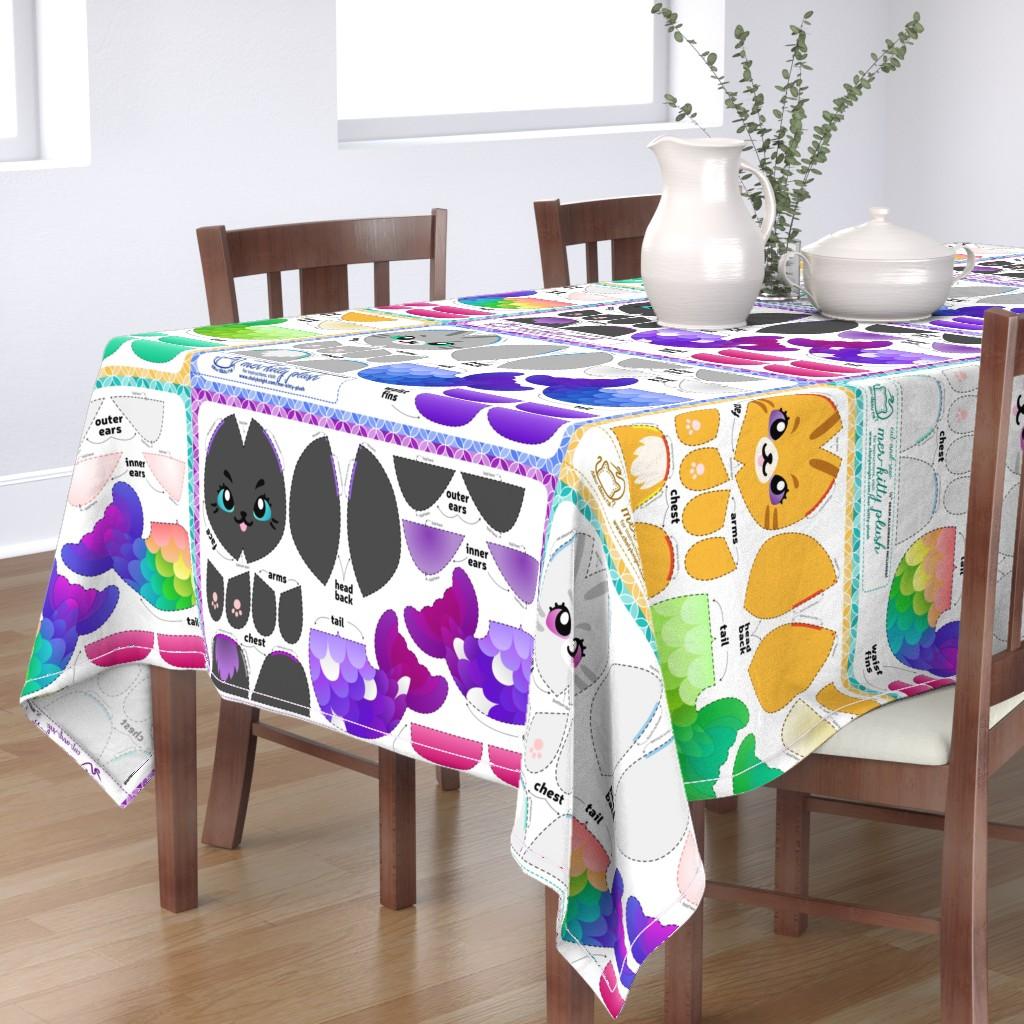 Bantam Rectangular Tablecloth featuring Cut & Sew Mer-kitty Plush Bundle by sewdesune