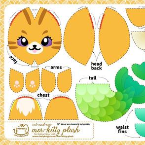Cut & Sew Orange Mer-kitty Plush