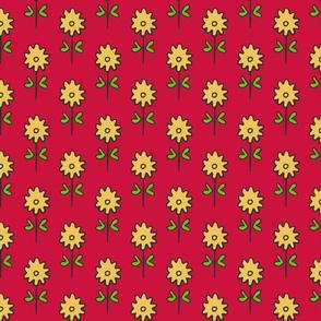SUZANI FLOWER RED YELLOW