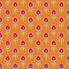 single suzani motif SMALL ORANGE RED WHITE-01