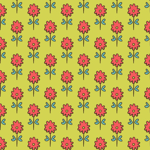 SUZANI FLOWER CELERY PINK
