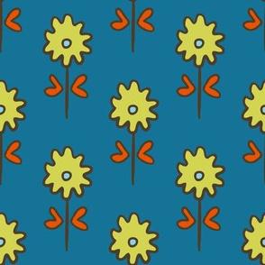 SUZANI  FLOWER TEAL CELERY