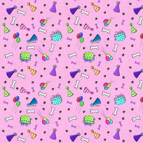 KiniArt Dog Lovers Birthday PINK