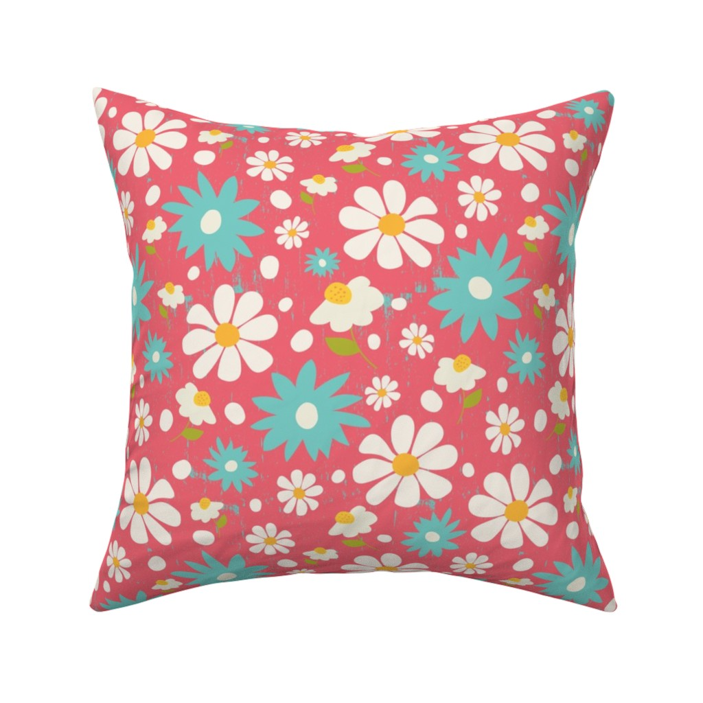 Catalan Throw Pillow featuring Daisy Lou Spring Florals by studiojulieann