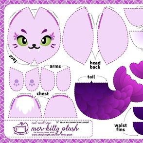Cut & Sew Mer-kitty Plush Purple