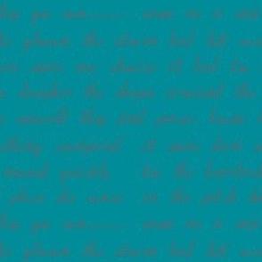 Fiction-turquoise