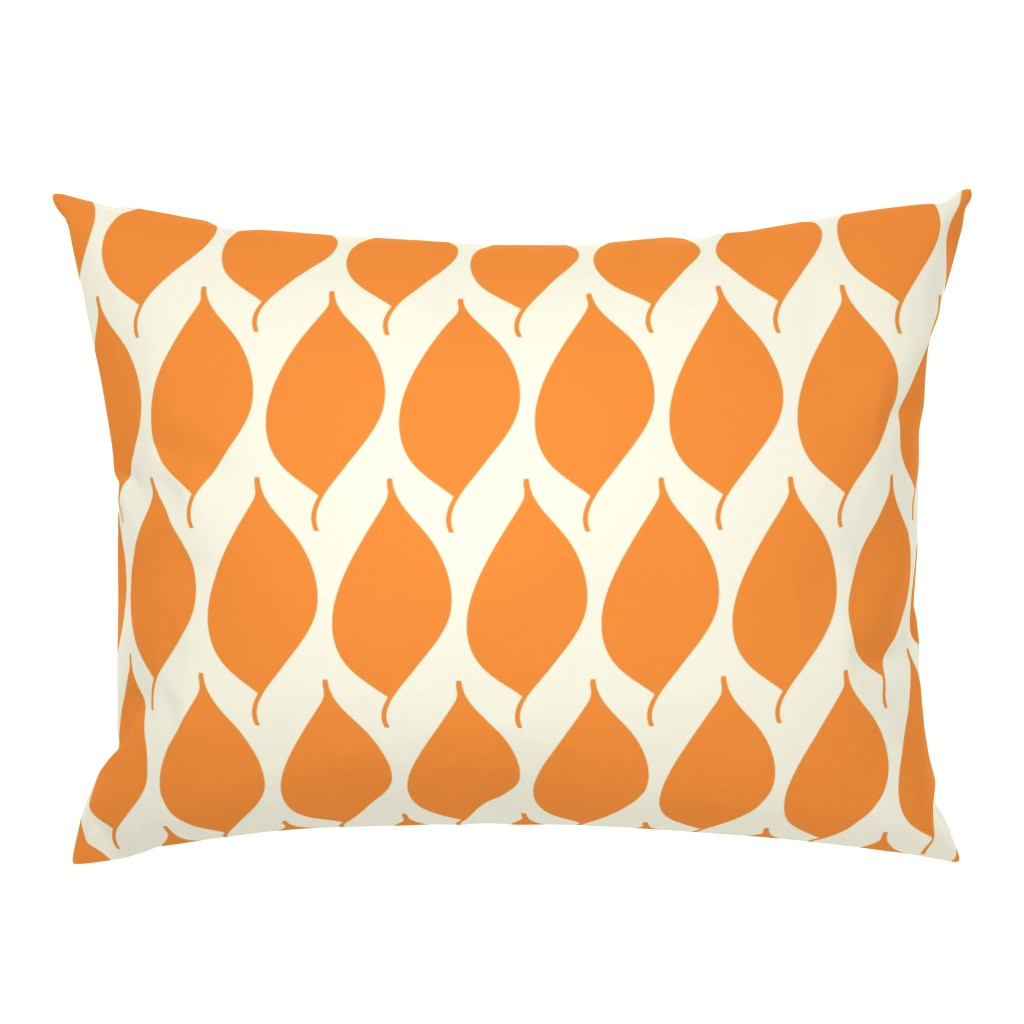 Campine Pillow Sham featuring Retro Orange Leaf by studiojulieann