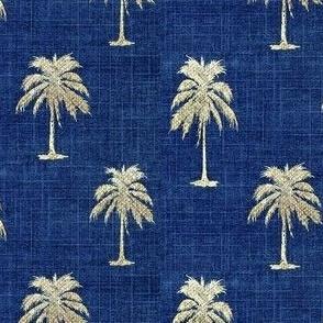 Golden  Palms on Denim