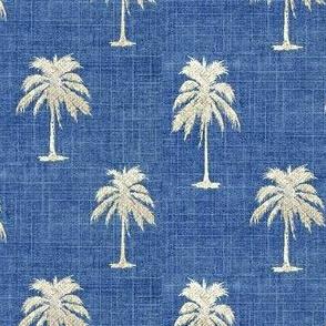 Golden Palm on Vintage Denim