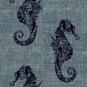 vintage seahorse  blues