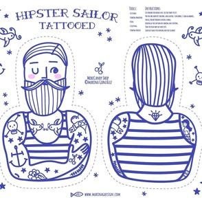 Hipster Sailor Tattooed