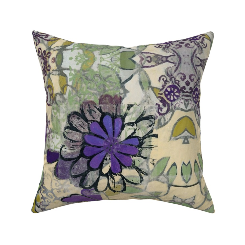 Catalan Throw Pillow featuring royal_bouquet by maria_pezzano