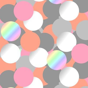 Bubbles grey pink & pearl - Bulles gris rose & nacre
