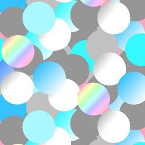 Bubbles grey blue & pearl - Bulles gris bleu & nacre