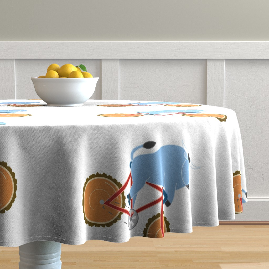 Malay Round Tablecloth featuring Babe Bike panel by cindylindgren