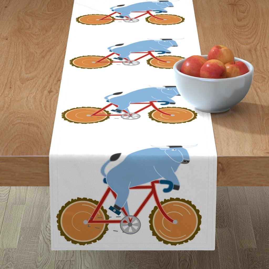 Minorca Table Runner featuring Babe Bike panel by cindylindgren