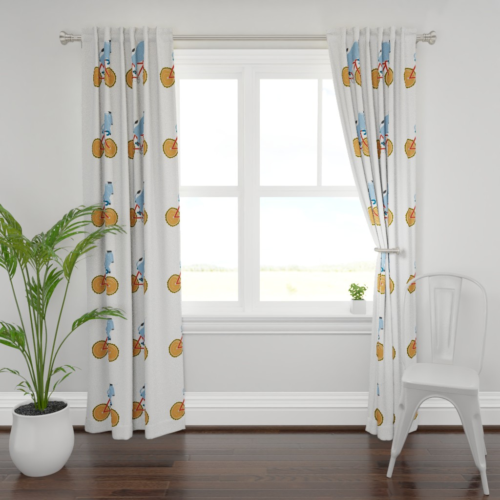 Plymouth Curtain Panel featuring Babe Bike panel by cindylindgren