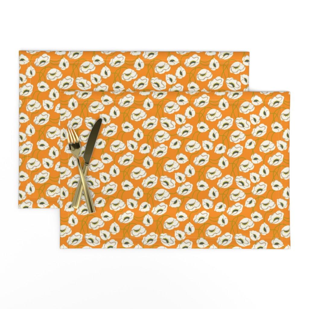 Lamona Cloth Placemats featuring Poppy Dance Tangerine medium by cindylindgren