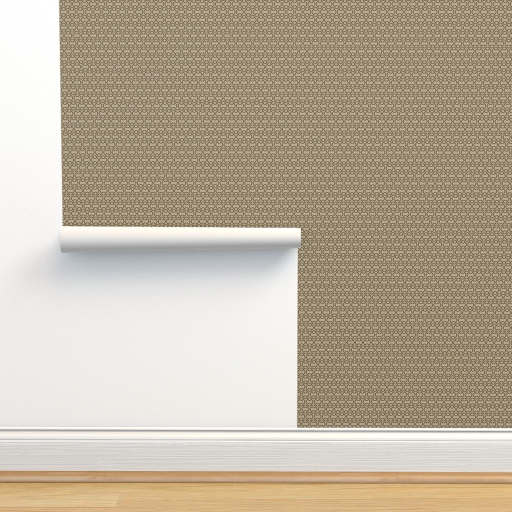 Isobar Durable Wallpaper featuring Links in taupe, medium by cindylindgren