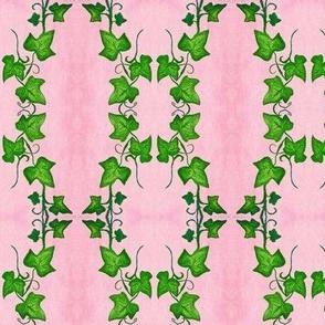 Vine Trellis on Pink-textured