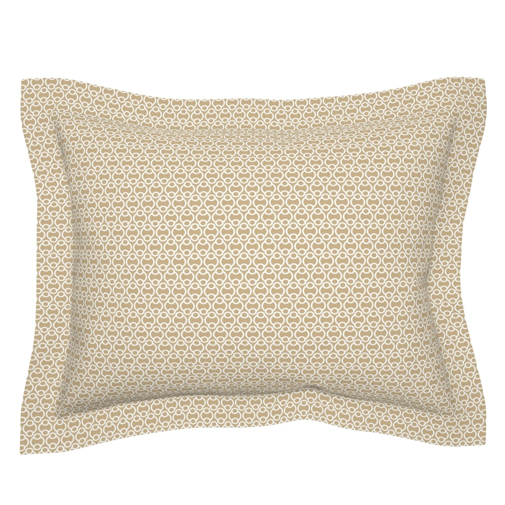 Sebright Pillow Sham featuring Links tan, medium by cindylindgren