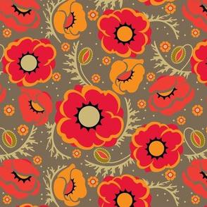 Poppy Hop in scarlet, medium