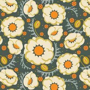 Poppy Hop in tangerine, medium