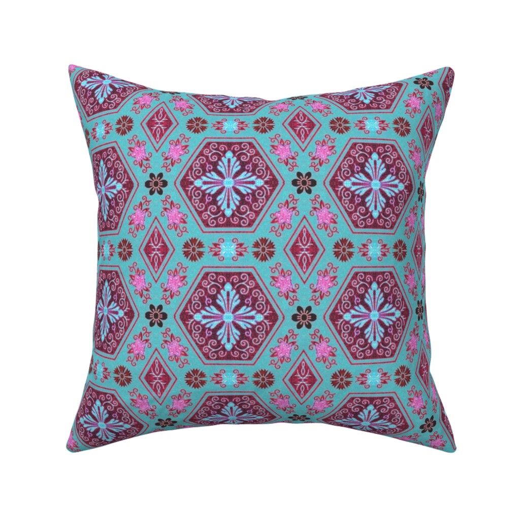Catalan Throw Pillow featuring japonaise 81 by hypersphere