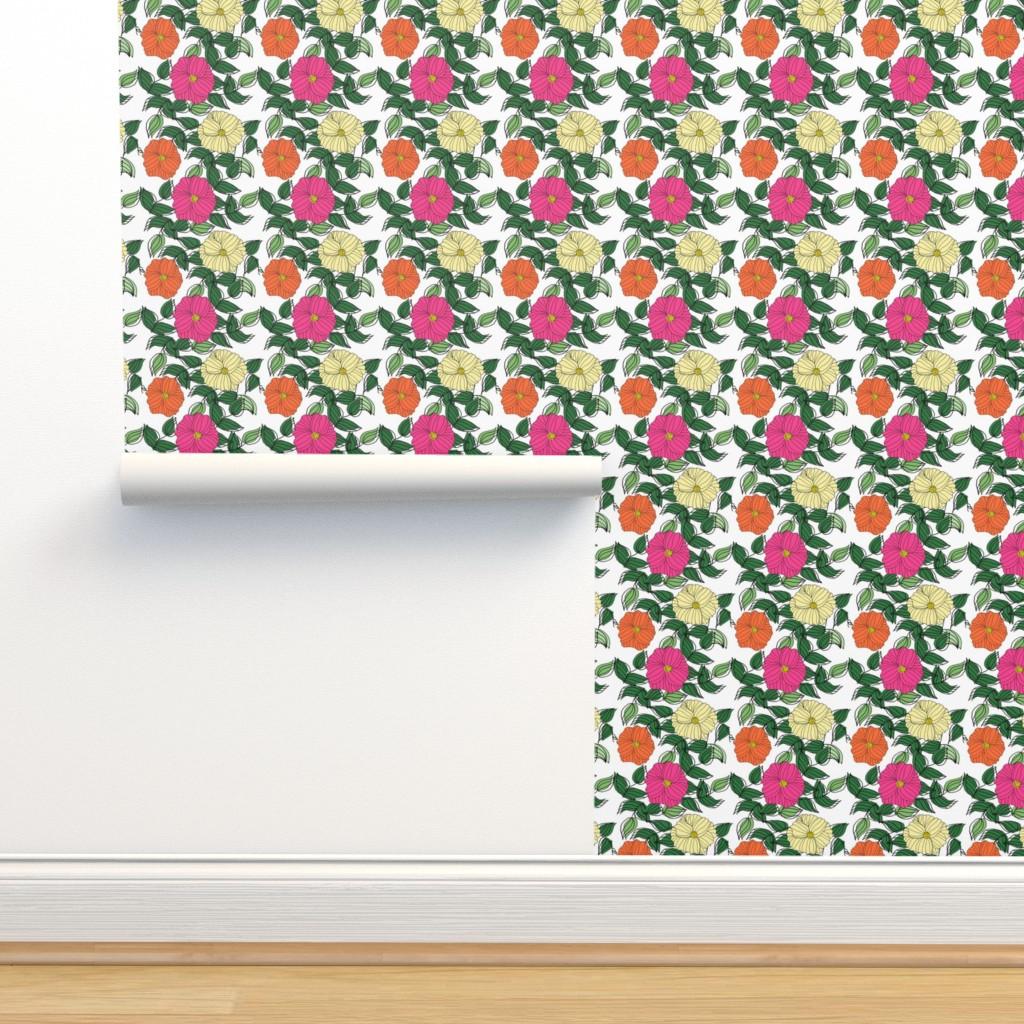 Isobar Durable Wallpaper featuring Cosmos in the Garden by ashandannstudio