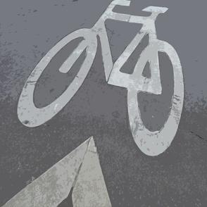Bike Lane, Paris, France - pillow view