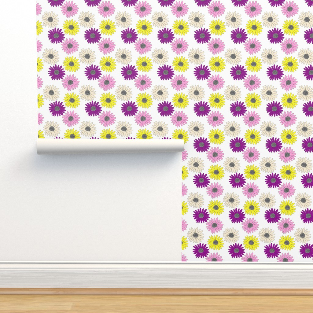 Isobar Durable Wallpaper featuring Daisies  by ashandannstudio