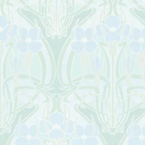 Nouveau Blooms in Blue