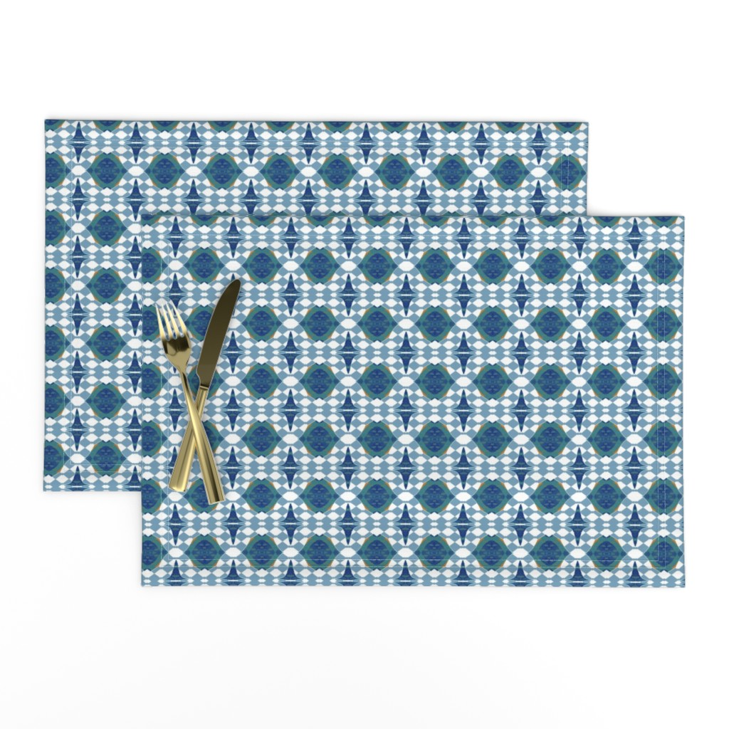 Lamona Cloth Placemats featuring Chain of Fools by gargoylesentry