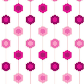 Hexagon stripe - white background