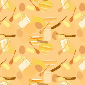 monochrome pancake day