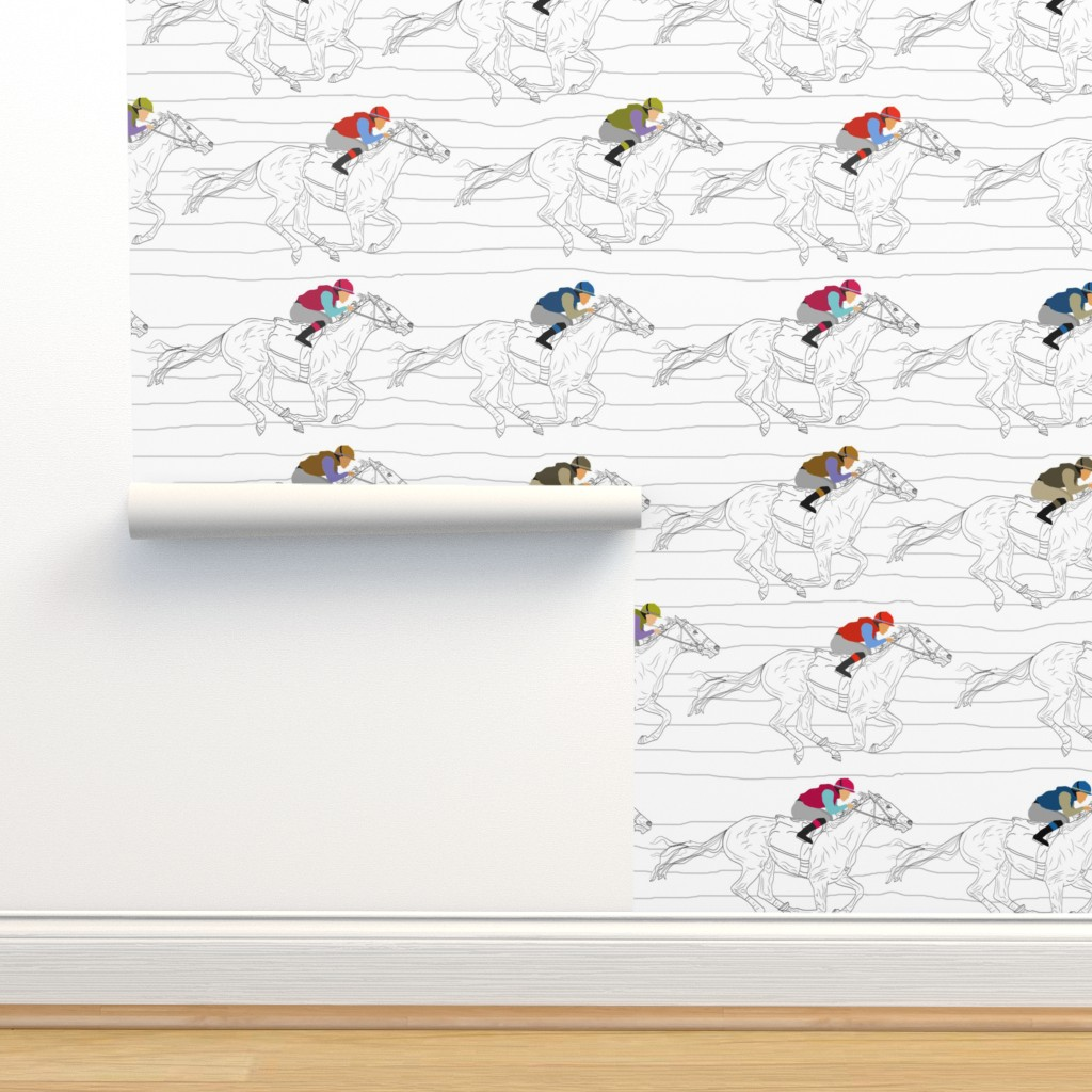 Isobar Durable Wallpaper featuring The Race by inkysunshine