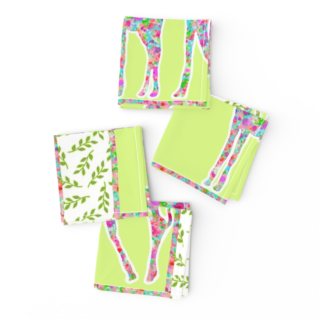 Frizzle Cocktail Napkins featuring Giraffe & Baby Pillow by lauriekentdesigns