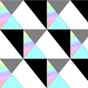 Figure géométrique bleu noir gris - Geometrical figure grey black blue