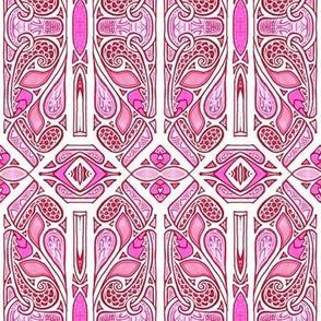 Pink Hexagon Stripe