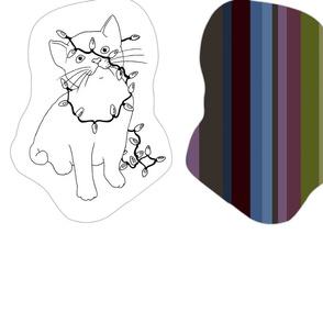 58 inch colourable kitties