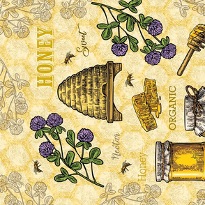 Tea Towel-Honey Lg