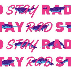 Radical Norwhales [white + pink]