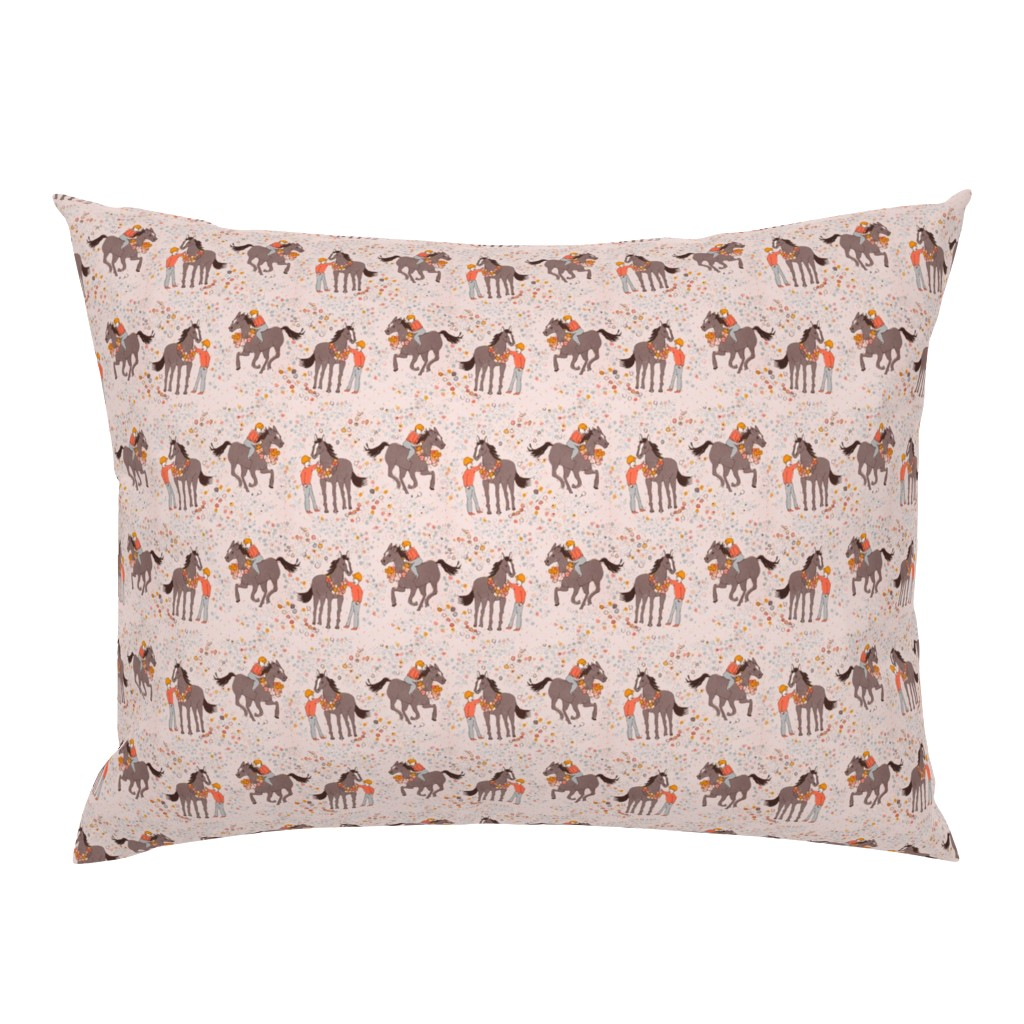 Campine Pillow Sham featuring race by potyautas